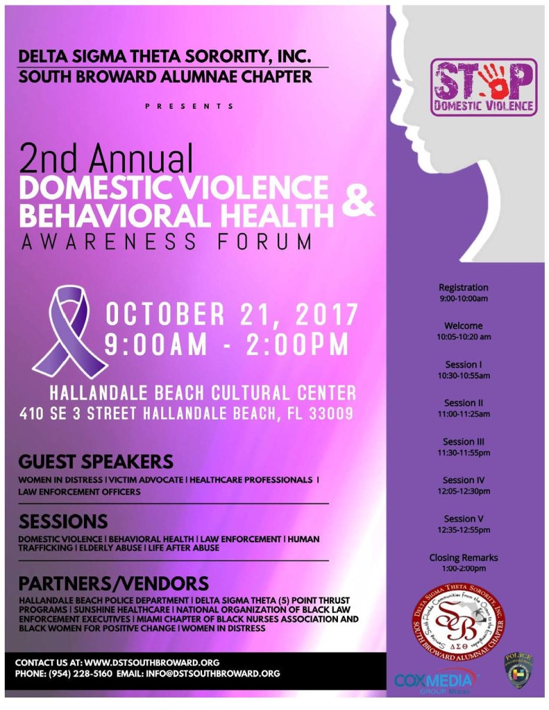 DST Domestic Violence Awareness Forum